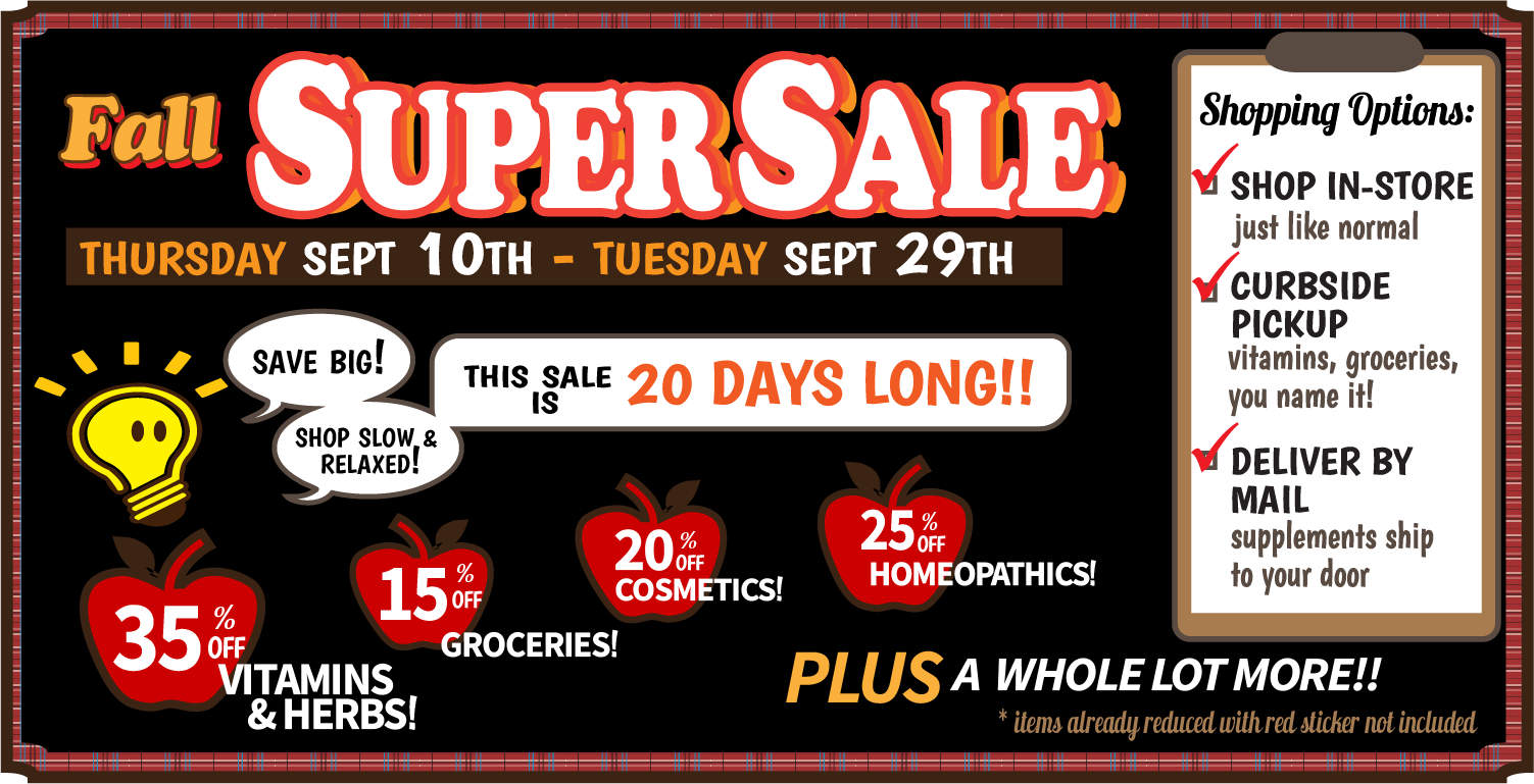 2020 autumn sale web ad - Sales and Specials